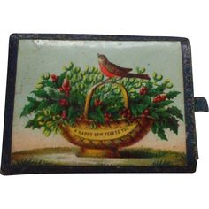 A Sweet Victorian 'Happy New Year' Needle Case As it is only 11 weeks to Christmas and the New Year I thought I would include this charming little