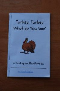 Turkey, Turkey What do You See? - Freebie