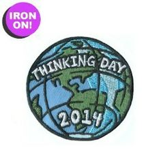 Thinking Day 2014 Patch. Iron on! As low as $.49! Get your Girl Scout Thinking Day Fun Patch from PatchFun.com!