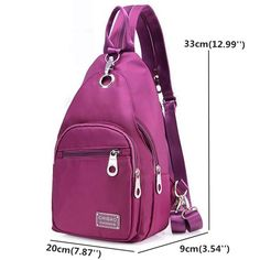 Women Nylon Chest Bag Upgrade High-End Daily Crossbody Bag Waterproof Shoulder Bag is Worth Buying - NewChic Mobile.