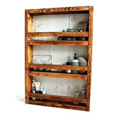Apothecary DIY Wall Shelf Plans, free and no woodworking experience required - Rogue Engineer Kitchen Wall Shelves, Diy Wall Shelves, Wood Shelves, Shelving, Diy Wood Projects, Woodworking Projects, Woodworking Chisels, Woodworking Bench, Woodworking Patterns