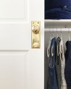How to Convert Sliding Doors to Hinged Doors - The Chronicles of Home Wood Sliding Closet Doors, Bedroom Closet Doors, Door Hinges, Door Knobs, Carport Patio, Painted Closet, Home Library Design, Purple Home, Window Frames