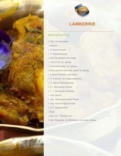 Lamb Recipes, Curry Recipes, Meat Recipes, Cooking Recipes, Lamb Cuts, Cut Recipe, Honey Mustard Chicken, South African Recipes, Afrikaans