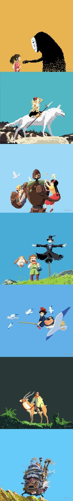 Studio Ghibli Pixel Art by Different State Circus.