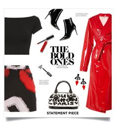 """The Bold Ones!"" by diane1234 ❤ liked on Polyvore featuring Attico, Gianvito Rossi, Louis Vuitton, Versace, Helmut Lang, Bobbi Brown Cosmetics, Toolally, red, colorpop and statementpiece"