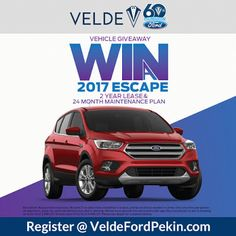 2017 Ford Escape Vehicle Giveaway at Velde Ford