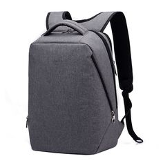 Gray Lightweight Business School Travel Backpack Daypacks for 14.1 inch  Laptop cffa2562a4
