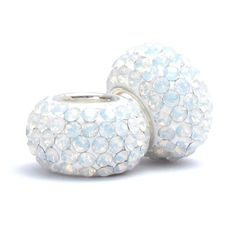 Set of 2 - Bella Fascini Snow White Opal Gold Shimmer Crystal Pave Sparkle Bling - October Birthstone - Solid .925 Sterling Silver Core European Charm Bead Made with Authentic Swarovski Crystals - Compatible Brand Bracelets : Authentic Pandora, Chamilia, Moress, Troll, Ohm, Zable, Biagi, Kay's Charmed Memories, Kohl's, Persona & more! Bella Fascini Beads,http://www.amazon.com/dp/B009JHXEUS/ref=cm_sw_r_pi_dp_Yrc2sb02TAV4Y83G