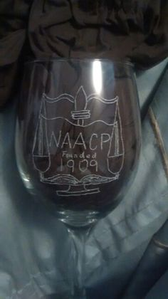 Engraved -- NAACP Glass