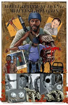 "The Walking Dead Artwork by Kirk Manley. Season 5/9 - ""What Happened and What's Going On"""