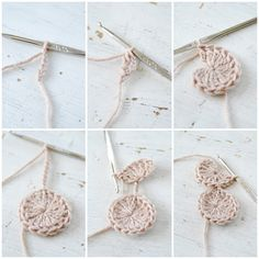 bracelet crochet tutorial-- super neat even for learning how to start a circle for other projects ; Crochet Diy, Crochet Motifs, Crochet Circles, Knit Or Crochet, Crochet Crafts, Yarn Crafts, Crochet Stitches, Crochet Hooks, Crochet Projects