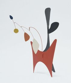Alexander Calder, Untitled, 1939. Painted sheet aluminum and steel wire