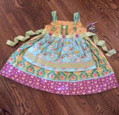 NWT MATILDA JANE Funnel Cake Apron Knot Dress Size 6 #MatildaJane #DressyEveryday
