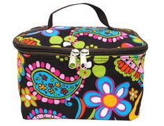 Paisley and Floral Print Makeup Cosmetic Bag
