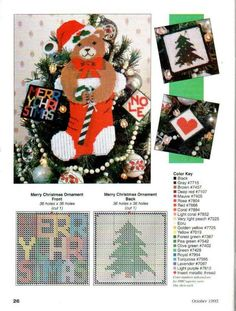MUSICAL TEDDY 1/3 **AND** CHRISTMAS ORNAMENTS 1/2