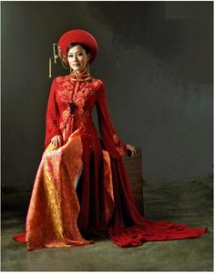 The VIetnamese people have a traditional dress that they wear when they get married. While the Vietnamese favor a red ao dai, the Muslims favor a traditional white wedding dress. While both cultures wear different types of dress, they both have cultural traditions for wedding days that is still practiced.