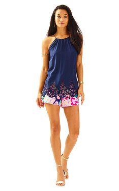 cc4c7db6a20 Diem Silk Lace Hem Top