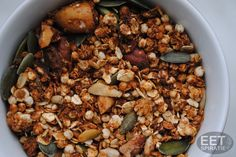 muesli uit de oven Muesli, Granola, Black Eyed Peas, Healthy Mind, Oven, Beans, Healthy Recipes, Vegetables, Food