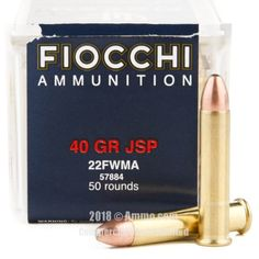 Fiocchi 22 WMR Ammo - 50 Rounds of 40 Grain JSP Ammunition  #22WMR #22WMRAmmo #Fiocchi #FiocchiAmmo #Fiocchi22WMR #JSP
