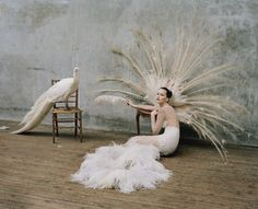 Jennifer Lawrence by Tim Walker and styled by Jacob K for the October 2012 issue of W magazine