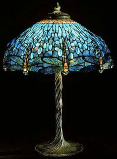Lamp with Dragonflies by Louis Comfort Tiffany