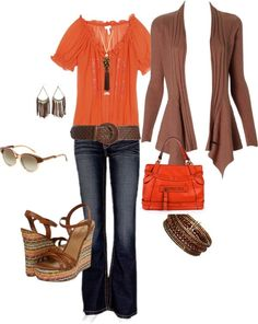 orange clothes   Brown & Orange   Clothes