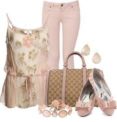 """Spring Pink"" by lilpudget on Polyvore"
