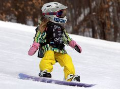 One day my daughter will snowboard at 6yr too