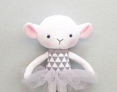 Cat rag doll Plush cat Handmade cat doll by CreepyandCute