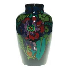 Glaze Floral, Gouda Regina, Dutch Ceramics, Floral Vase, Hollands Plateel