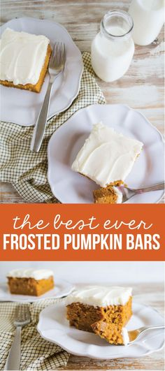 The Best Pumpkin Bars you'll ever eat! These melt in your mouth bars are the best and perfect for fall. www.thirtyhandmadedays.com