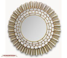 Beautiful large gold mirror, hand made, hand painted from Peru. I cant wait for it to arrive!