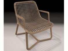 Wooden armchair with armrests RIZA AIR - THELOS
