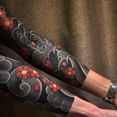 Japanese tattoo sleeves by Koi Tattoo Sleeve, Japanese Sleeve Tattoos, Full Sleeve Tattoos, Tattoo Sleeve Designs, Tattoo Sleeves, Irezumi Tattoos, Forearm Tattoos, Body Art Tattoos, Piercing Tattoo