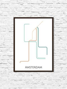 Amsterdam Subway Map