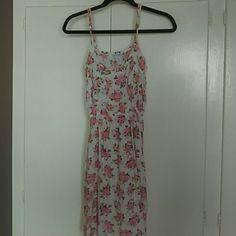Cotton On Rose Print Sun Dress
