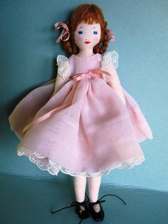Pretty in pink Ackley pattern doll