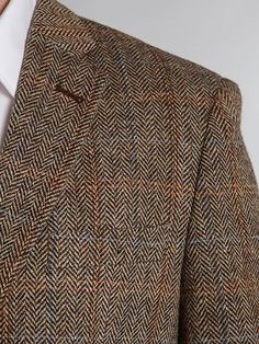 ba564b166 Harris Tweed Hamish Herringbone Blue Slim Fit Jacket - House of Fraser