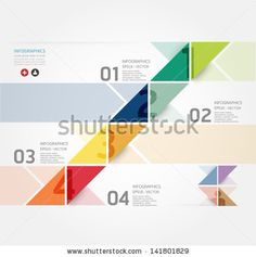 Modern Design Minimal style infographic template / can be used for infographics / numbered banners / horizontal cutout lines / graphic or website layout vector by ponsuwan, via ShutterStock