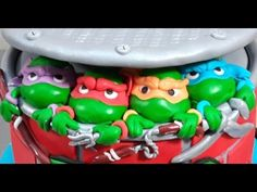 Fondant Ninja Turtles- How To Make - by CakesStepbyStep