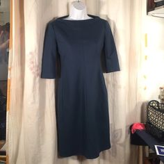 Diane Von Furstenberg Wool Blend Dress Blue Gray 4 Beautiful dress, needs to be dry cleaned, priced accordingly, no issues just some deodorant marks on the inside of dress Diane von Furstenberg Dresses