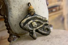 Eye of Horus - Necklace Pewter Pendant Tribal Handmade OOAK