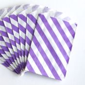 Image of Purple Striped Itty Bitty Bags