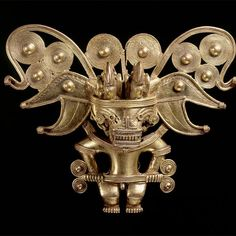 """""""Beyond El Dorado: Power and Gold in Ancient Colombia"""" exhibition at the British Museum - Alain. Ancient Artefacts, Ancient Civilizations, Art Antique, Antique Jewelry, British Museum, Colombian Gold, Hispanic Art, Hispanic Culture, Going For Gold"""