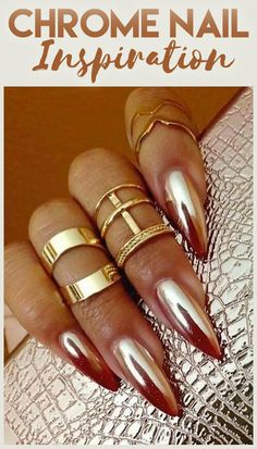 Cool-Girl Chrome Nail Inspo