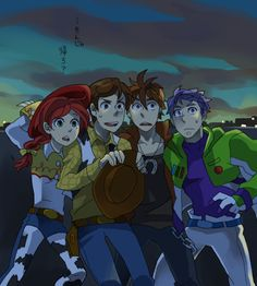 "Toy Story, anime style. ""Let's... go home."""