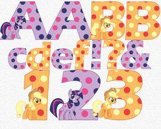 My Little Pony Twilight Sparkle & Applejack Alphabet & Numbers My Little Pony Party Ideas