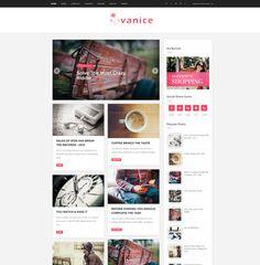 Magazine style blogger template