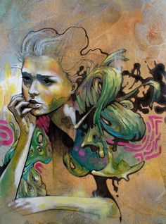 Torneros Allison is a young artist of 24 years who lives in Los AngelesA world psychedelic inspired graffiti