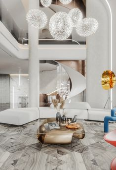 你好,色彩 !-室内设计-拓者设计吧 Modern Villa Design, Futuristic Interior, Floor Patterns, Drawing Room, Modern Luxury, Sofa Furniture, Home Interior Design, Living Room Designs, New Homes